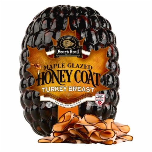 Boar's Head Maple Glazed Honey Coat Turkey Breast Perspective: front