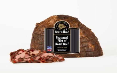 Boar's Head Seasoned Filet of Roast Beef Perspective: front