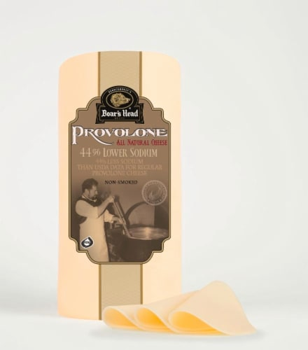 Boar's Head Low Sodium Provolone Cheese Perspective: front