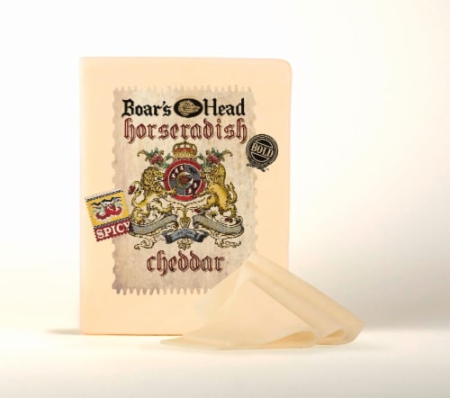 Boar's Head Horseradish Cheddar Cheese Perspective: front