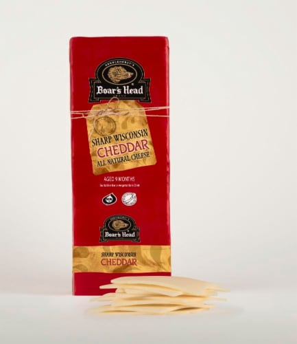 Boar's Head Red Wax Sharp Wisconsin Cheddar Cheese Perspective: front