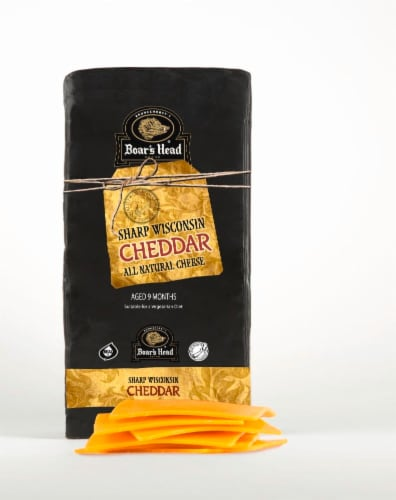 Boar's Head Black Wax Sharp Wisconsin Cheddar Cheese Perspective: front