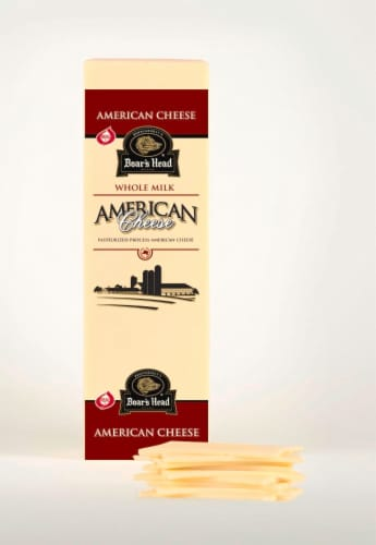Boar's Head White Whole Milk American Cheese Perspective: front