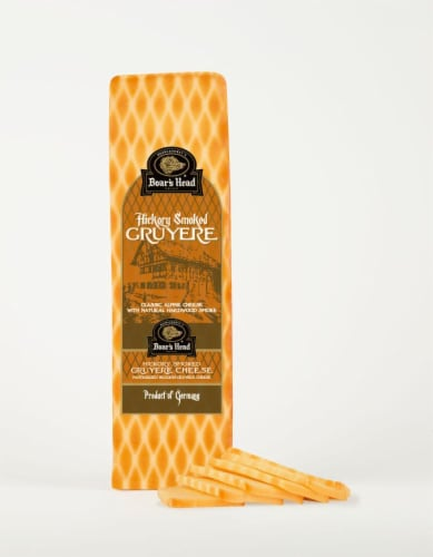 Boar's Head Hickory Smoked Gruyere Cheese Perspective: front
