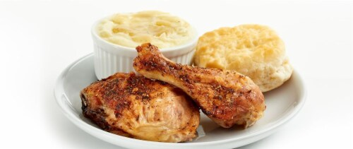 Dark Meat Baked Meal 2PC (NOT AVAILABLE BEFORE 11:00 am DAILY) Perspective: front