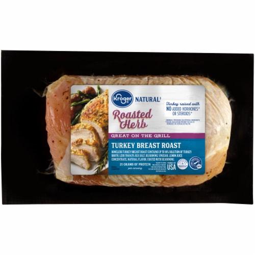 Kroger® Natural Roasted Herb Turkey Breast Perspective: front