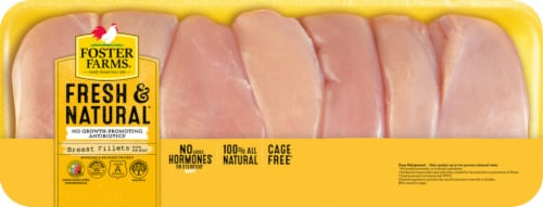 Foster Farms Fresh & Natural Boneless & Skinless Chicken Breasts Fillets Perspective: front