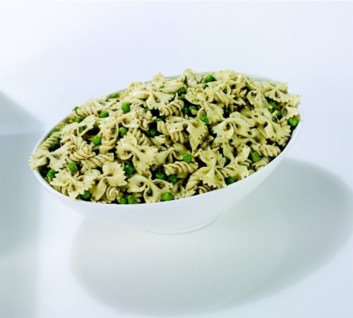 Pesto Pasta and Pea Salad Perspective: front