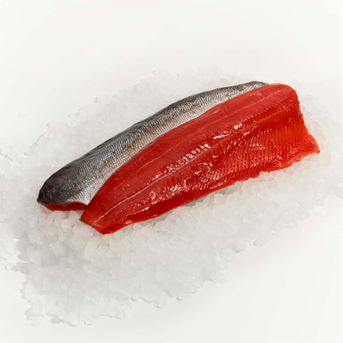Wild Caught Sockeye Salmon Fillet Perspective: front