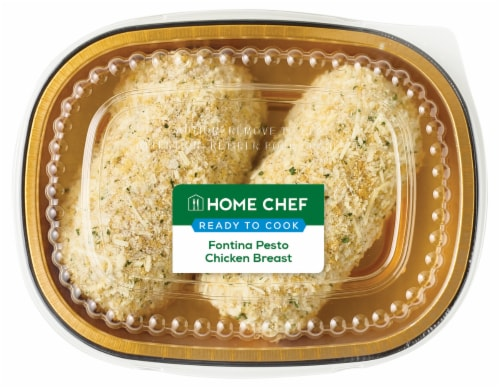 Home Chef Fontina Pesto Chicken Breast Perspective: front