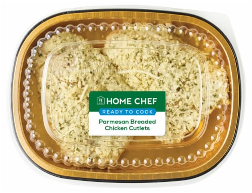 Home Chef Parmesan Breaded Chicken Cutlets Perspective: front