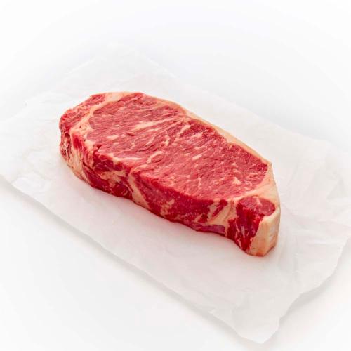 Beef Prime Boneless Strip Steak (1 Steak) Perspective: front