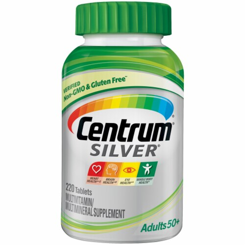 Centrum Silver Adult 50+ Complete Multivitamin / Multimineral Supplement Tablets Perspective: front