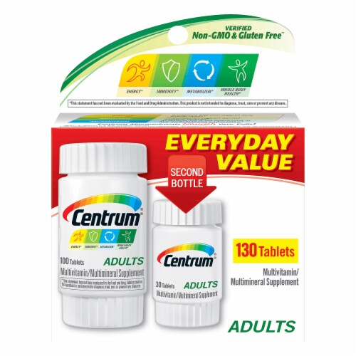 Centrum Adults Multivitamin / Multimineral Supplement Tablets Perspective: front