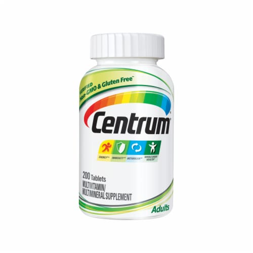 Centrum Adult Multivitamin & Multimineral Supplement Tablets Perspective: front