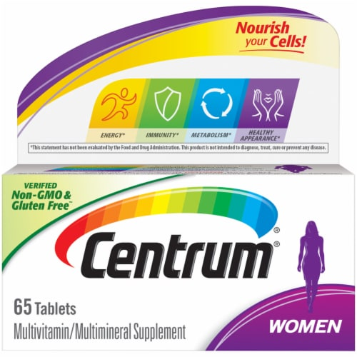 Centrum Women Multivitamin Supplement Tablets 65 Count Perspective: front