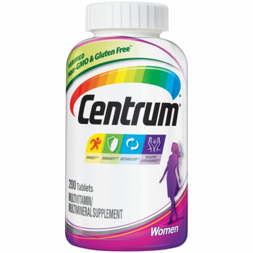 Centrum Women Multivitamin Tablets 200 Count Perspective: front