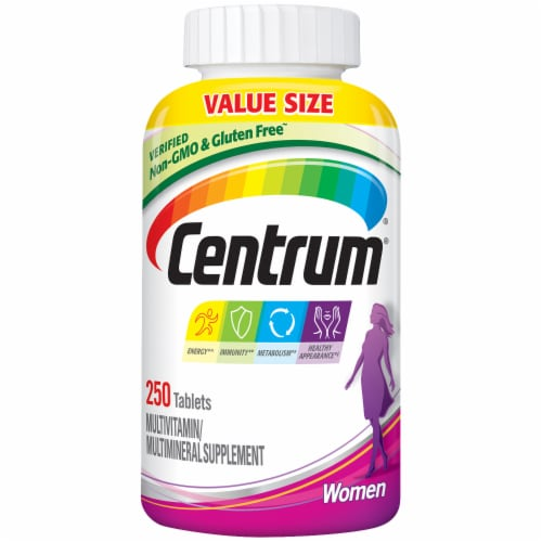Centrum Women's Multivitamin Tablets Perspective: front
