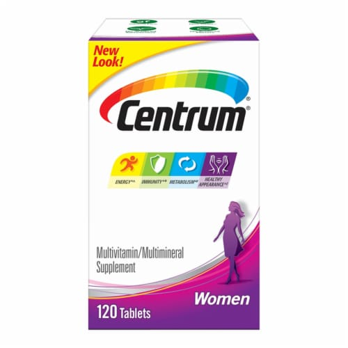 Centrum Women Multivitamin & Multimineral Supplement Tablets Perspective: front