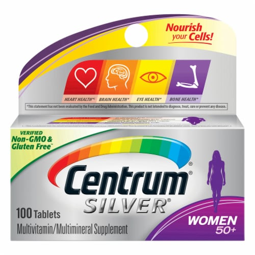 Centrum Silver Women 50+ Multivitamin / Multimineral Supplement Tablets Perspective: front