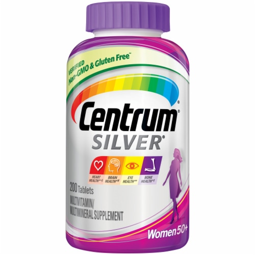 Centrum Silver Multivitamin for Women 50 Plus Multivitamin/Multimineral Supplement Perspective: front