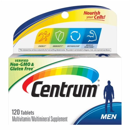 Centrum Men Complete Multivitamin / Multimineral Supplement Tablets Perspective: front