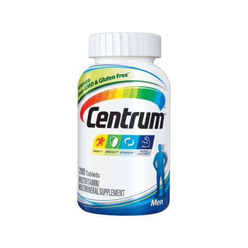 Centrum Men Multivitamin Supplement Tablets Perspective: front