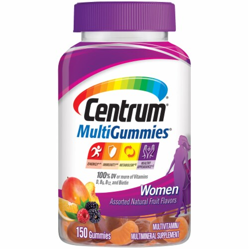 Centrum MultiGummies Women Natural Fruit Flavored Multivitamin & Multimineral Supplement Perspective: front