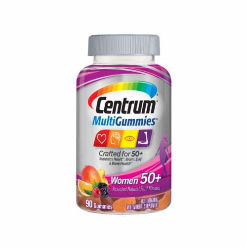 Centrum Women 50+ MultiGummies Perspective: front