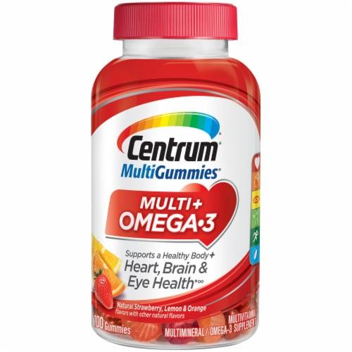 Centrum Multi + Omega-3 Multivitamin Gummies Perspective: front
