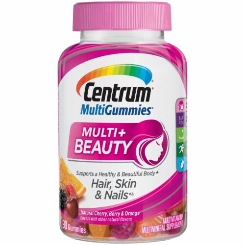 Centrum Multigummies Multi+ Beauty Vitamin Gummies Perspective: front