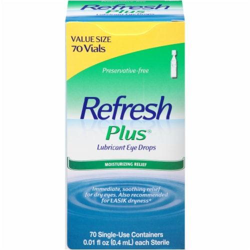 Refresh Plus Moisturizing Relief Lubricant Eye Drops Perspective: front