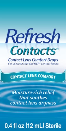 Refresh Contacts Lens Comfort Eye Drops Perspective: front