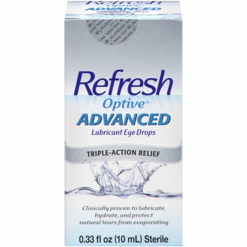 Refresh Optive Advanced Triple-Action Relief Lubricant Eye Drops Perspective: front