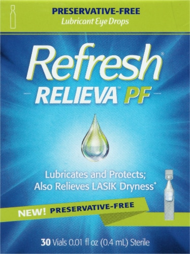 Refresh Relieva PF Lubricant Eye Drop Vials Perspective: front