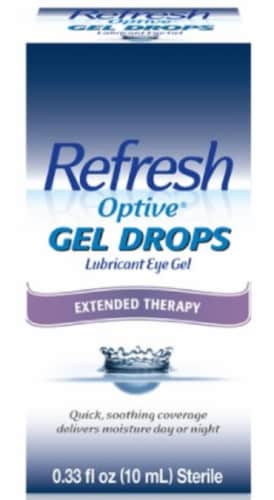 Refresh Optive Gel Drops Extended Therapy Lubricant Eye Gel Perspective: front