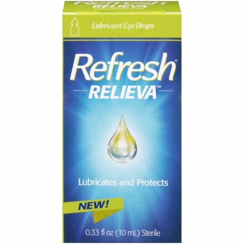 Refresh Relieva Lubricant Eye Drops Perspective: front