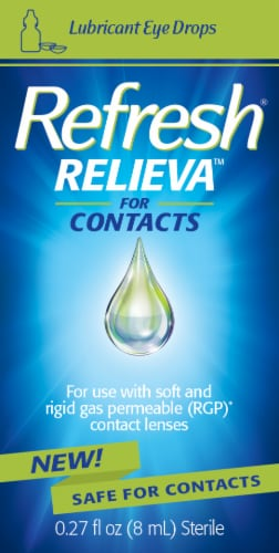 Refresh Relieva for Contacts Lubricant Eye Drops Perspective: front