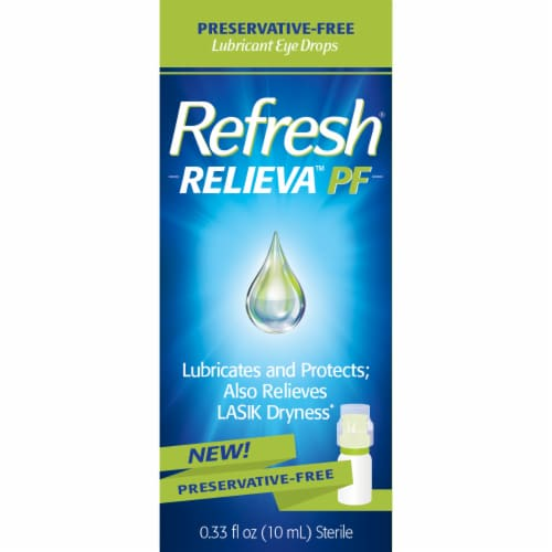 Refresh Relieva Preservative Free Lubricant Eye Drops Perspective: front