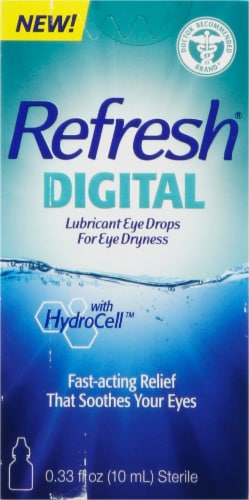Refresh Digital Lubricant Eye Drops Perspective: front