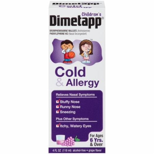 Dimetapp Children's Cold & Allergy Liquid Antihistamine & Decongestant Perspective: front
