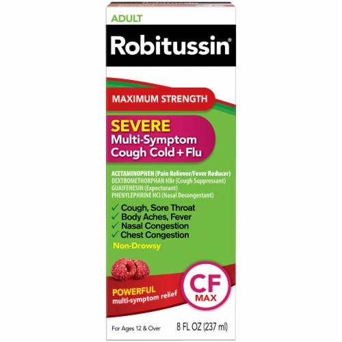 Robitussin Severe Maximum Strength Adult Multi-Symptom Cough Cold + Flu Liquid Perspective: front