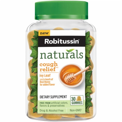 Robitussin Naturals Cough Relief Ivy Leaf Gummies 30 Count Perspective: front