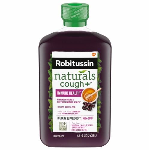 Robitussin Naturals Honey Ivy Leaf & Zinc Cough Relief Liquid Perspective: front