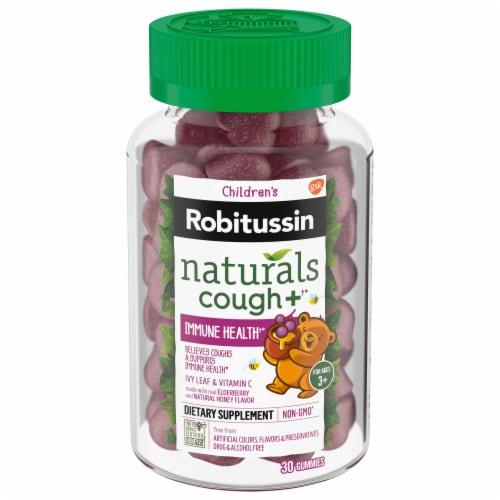 Robitussin Naturals Children's Elderberry & Honey Cough Relief Gummies Perspective: front