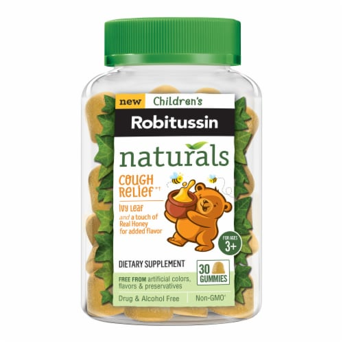 Robitussin Naturals Children's Ivy Leaf with Honey Cough Relief Gummies Perspective: front