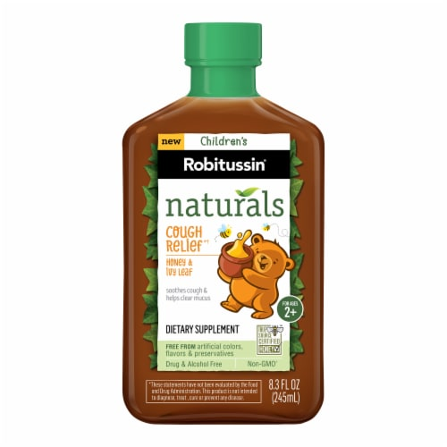 Robitussin Naturals Children's Honey & Ivy Leaf Cough Relief Liquid Perspective: front