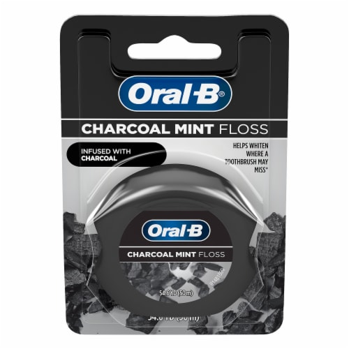 Oral-B Charcoal Mint Floss Perspective: front