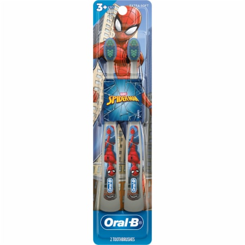 Oral-B Marvel Spiderman Kid's Toothbrushes Perspective: front