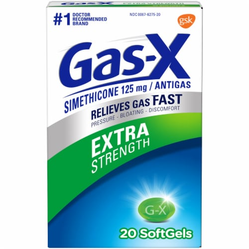 Gas-X Extra Strength Softgels 125mg Perspective: front
